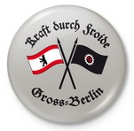KRAFT DURCH FROIDE -Gross-Berlin Button