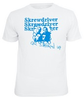 SKREWDRIVER – All Skrewed Up - T-Shirt – WEISS / Blau