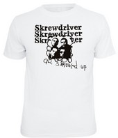 SKREWDRIVER – All Skrewed Up - T-Shirt – WEISS / Schwarz